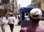 インドのサイクルリキシャに乗る