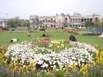 インド、春の花咲くコンノートプレイス