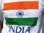 インド国旗のTシャツ