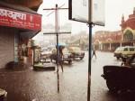 雨季のインドのスコール