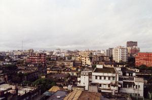 インド・コルカタのホテルの部屋からの眺め