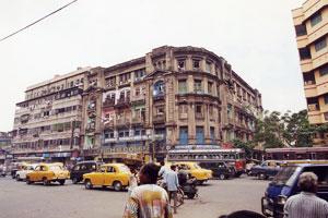 インド・コルカタの街