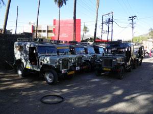 インド・マウントアブーのタクシー