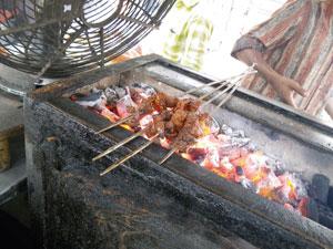 インド・アーマダバードの串焼き屋