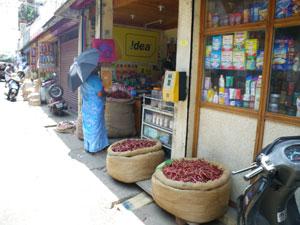 インド・香辛料を売る店