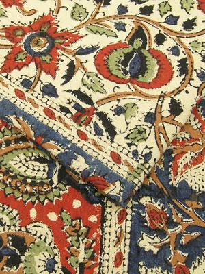 インドのブロックプリントの布