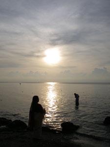 インド・ラーメシュワラムの朝日