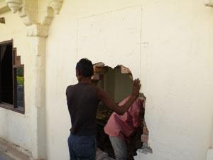 インドの改修工事