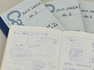 インドに持って行ったメモ帳