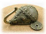 インド先住民族ドクラの鋳造工芸品 壁掛けフック ゾウ MTB-2013