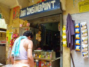 インド、ヴァラナシの店