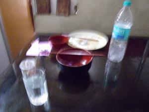 インド、ヴァラナシの食堂