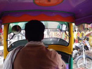 インド、ヴァラナシのオートリキシャ