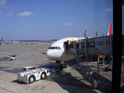 インド行の飛行機