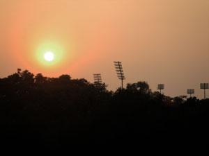 インドの夕陽