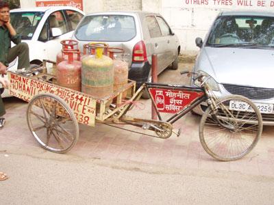 インドのサイクル運搬車
