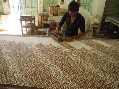 インド、ダマルカのアズラック工房