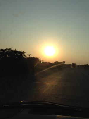 インド、ダマルカのアズラック工房からの帰り道