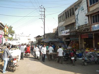 インド、ブジの商店街