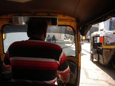 インド、ブジのオートリキシャ