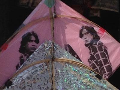 インド、再利用紙を貼った凧