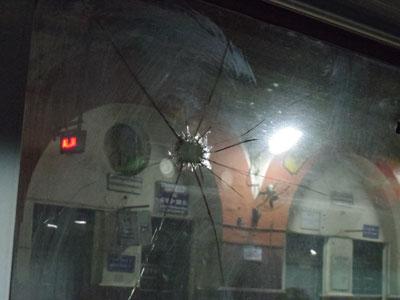 インド・列車への投石