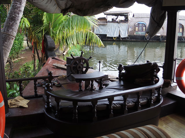 南インド、ケララ州、アレッピーのハウスボート