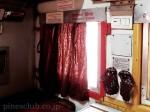 インドの寝台列車の窓