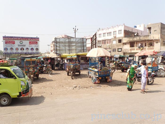 インド・グジャラート州ラジュラの街