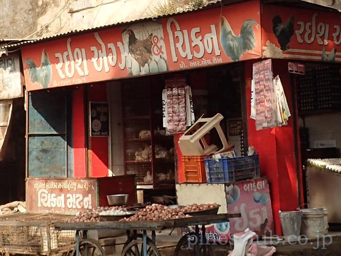 インド・ジュナーガルの大衆食堂