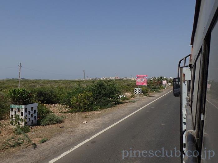 インド、グジャラート州ドワルカ近く