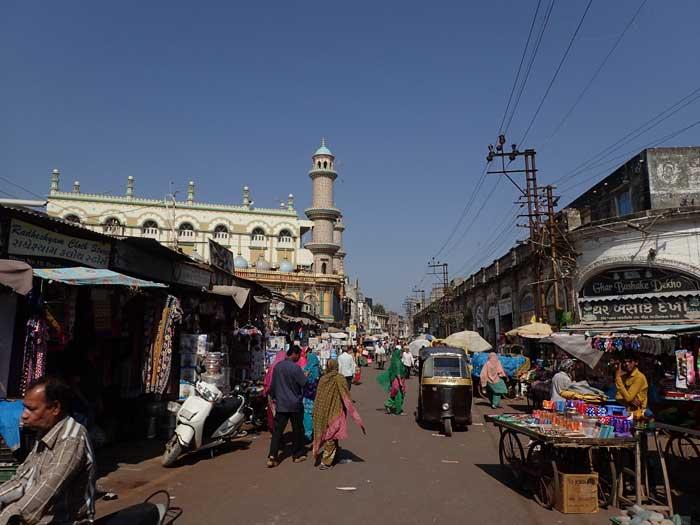 インド、グジャラート州、ジャムナガルの旧市街