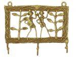 インド先住民族ドクラの鋳造工芸品 キイハンガー 部族民 MTB-2039