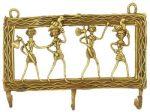 インド先住民族ドクラの鋳造工芸品 キイハンガー 部族民 MTB-2040