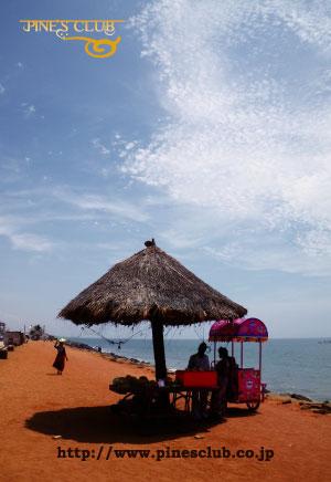 インドのオリジナルポストカードNo.016 浜辺のアイスクリーム売り