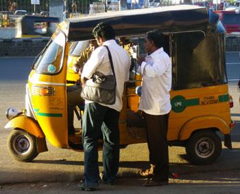 インド・LPG仕様のオートリキシャ
