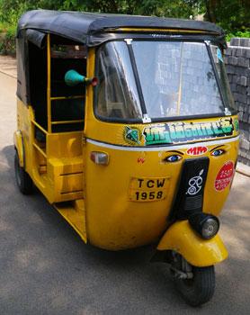 インド・南インドのオートリキシャ