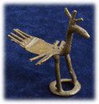 インド先住民族ドクラの鋳造工芸品 アンティーク 孔雀 MTB-9003