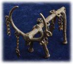 インド先住民族ドクラの鋳造工芸品 アンティーク 飾りの付いた牡鹿 MTB-9009