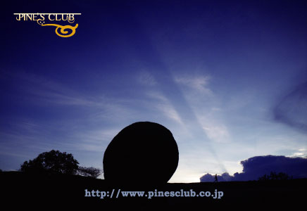 インドのオリジナルポストカード017 夕景のバターボール